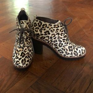 LEOPARD HAIRCALF SPERRY LACE UP BOOT 7.5